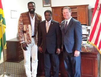 Olowo-n'djo et Daniels-Brown reçus par l'Ambassadeur